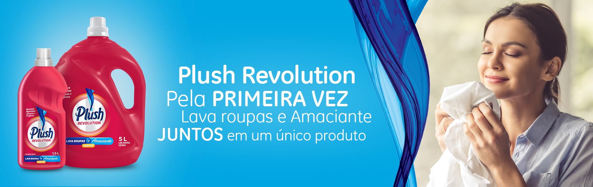 Plush Revolution - Lava Roupas e Amaciante juntos